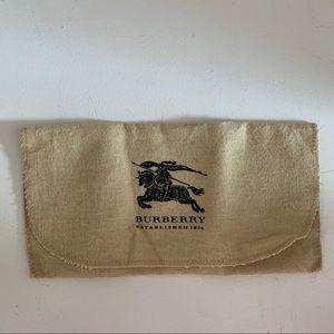"Burberry|Wallet pouch/dust bag- Size 9.5""x5"""